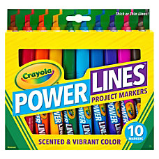 Crayola Power Lines 10 color Project