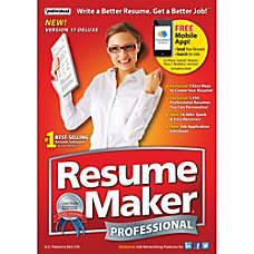 ResumeMaker Professional Deluxe 17 Download Version
