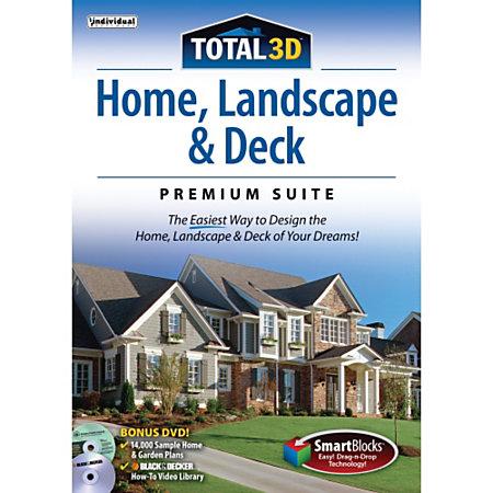 Total 3d Home Landscape Deck Premium Suite 12 Download Version By Office Depot Officemax