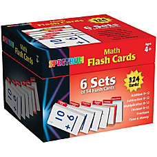 Spectrum Math Flash Cards Boxed Set