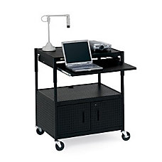 Bretford ECILS3FF BK Adjustable Multipurpose Cart