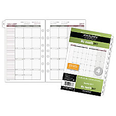 Day Runner Monthly Calendar Refill 5