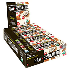 Raw Revolution Bars Cranberry Almond Coconut