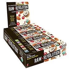 Raw Revolution Bars Cranberry Almond Coconut