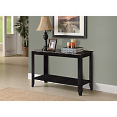Monarch Specialties Marble Look Console Table