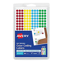 Avery Removable See Through Color Dots