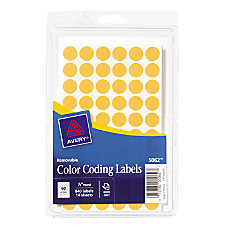 Avery Round Color Coding Label 050