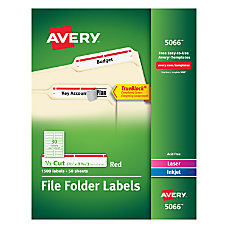Avery TrueBlock Color Permanent InkjetLaser File
