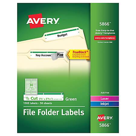 Avery trueblock permanent inkjetlaser file folder labels for Pres a ply templates