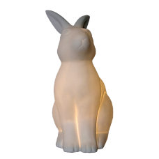 Simple Designs Porcelain Bunny Rabbit Table