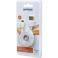 Manhattan Flat Micro USB Cable