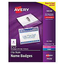 Avery Garment Friendly Clip Style Name