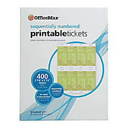 OfficeMax Printable Tickets Item   9454627 OfficeMax   06121341 20TERqkU