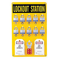 10 LOCK STATION WLOCKS TAGS LOCKOUTS