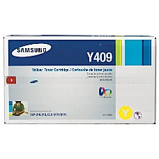 Samsung CLT Y409S Yellow Toner Cartridge