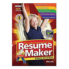 ResumeMaker Professional Deluxe 15 Traditional Disc