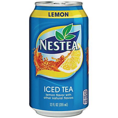 Nestea Canned Iced Tea Beverage Lemon Flavor 12 fl oz Can ...  Nestea