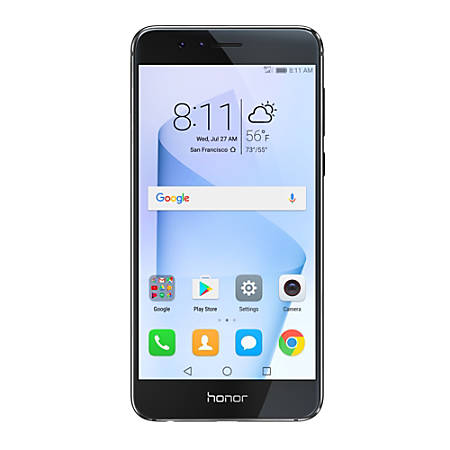 huawei honor 8 cell phone midnight black phn300074 by office depot officemax. Black Bedroom Furniture Sets. Home Design Ideas