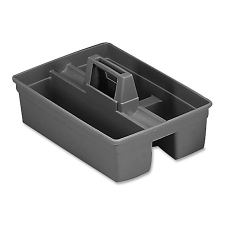 rubbermaid carry caddy platinum black newell office depot