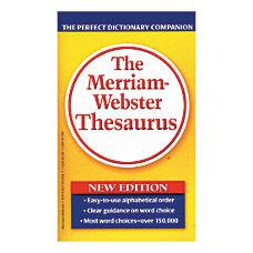 Merriam Websters Thesaurus Pack Of 3