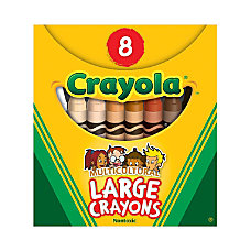 Crayola Multicultural Large Crayons Assorted Specialty