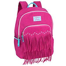 Madison Dakota Suede Fringe Backpack Pink