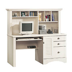 Sauder Harbor View Collection Computer Desk With Hutch