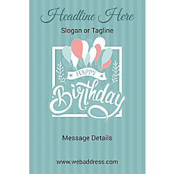 Custom Vertical Poster Birthday Balloons