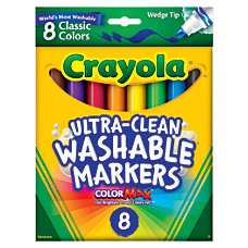 Crayola Washable Wedge Tip Markers Assorted