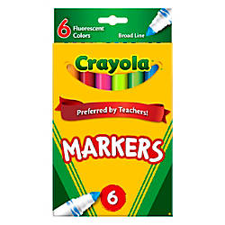 Crayola Fluorescent Broad Line Markers Assorted