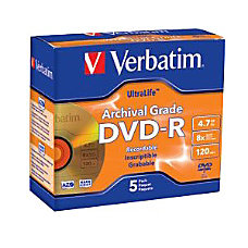 Verbatim UltraLife Archival Grade Gold DVD