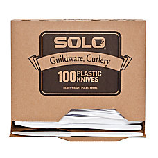 Solo Guildware Heavyweight Knives White 100
