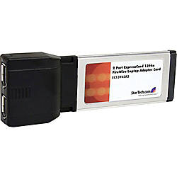 StarTechcom 2 Port ExpressCard 1394a FireWire