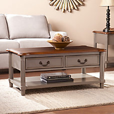 Southern Enterprises Devonshire Cocktail Table Rectangular