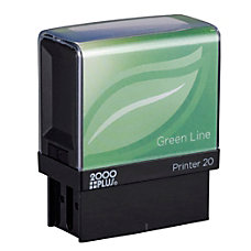 2000 PLUS Green Line Self Inking
