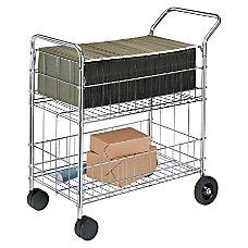 Fellowes Chrome Mail Cart 150 Lb