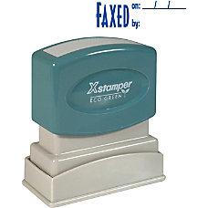 Xstamper Pre Inked Stamp Message Stamp