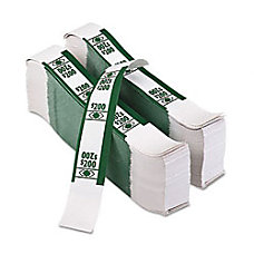 PM Currency Straps Adhesive Kraft White