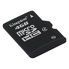 Kingston 4GB MicroSD Flash Card Class