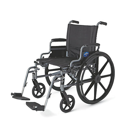 Medline k4 extra wide lightweight wheelchair swing away 20 for Extra wide swing seat