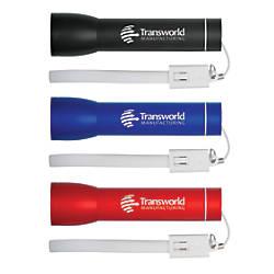 Aluminum Portable Flashlight Charger For USB