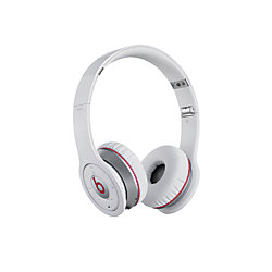 beats by dr dre bluetooth wireless on ear headphones white by office depot officemax. Black Bedroom Furniture Sets. Home Design Ideas