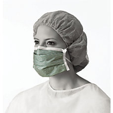 Medline N95 Adjustable Respirator Masks GreenWhite
