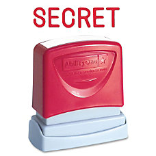 SKILCRAFT Pre Inked Message Stamp SECRET