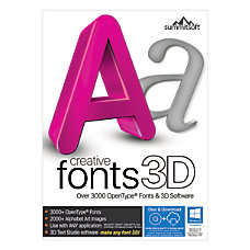 Summitsoft Creative Fonts 3 D Traditional