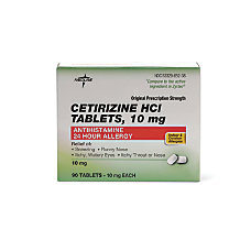 Cetirizine 10 Mg Tablets Box Of