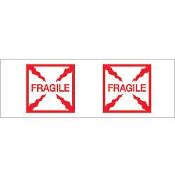 Tape Logic Fragile Box Preprinted Carton