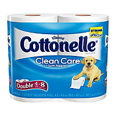Cottonelle Clean Care Double Roll Bathroom