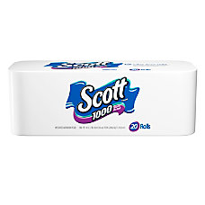 Scott Single Ply Bathroom Tissue 1000