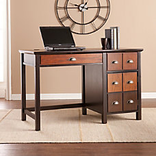 Southern Enterprises Hendrik Apothecary Desk EspressoWood